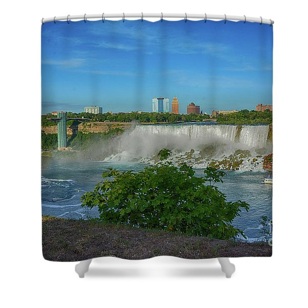 View Of Usa From Canada Shower Curtain