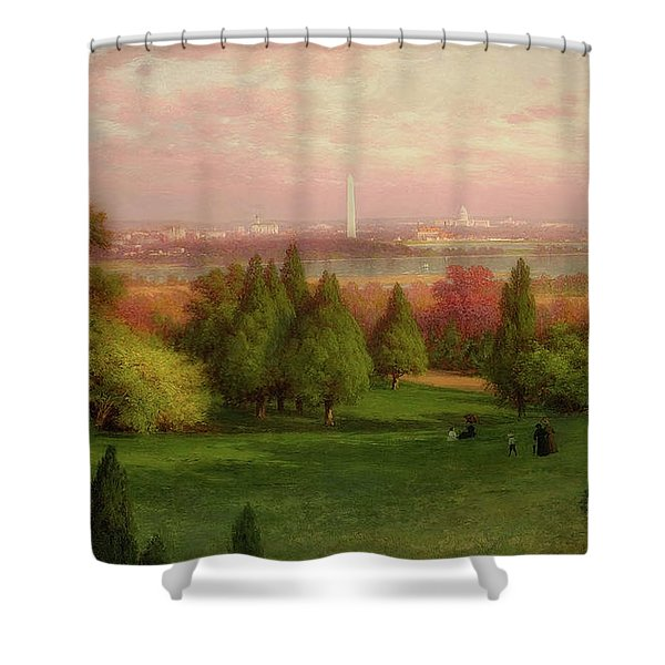 View Of Washington From Arlington Shower Curtain