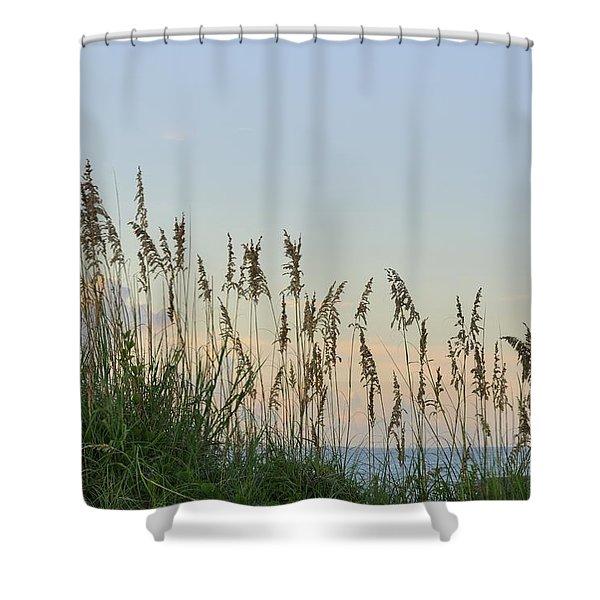 View Through The Sea Oats Shower Curtain