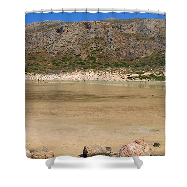 View To Gramvousa Shower Curtain