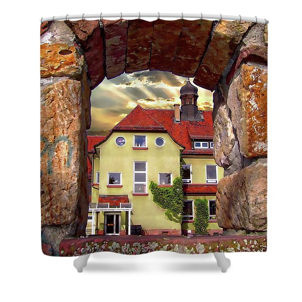 View To The Past Shower Curtain