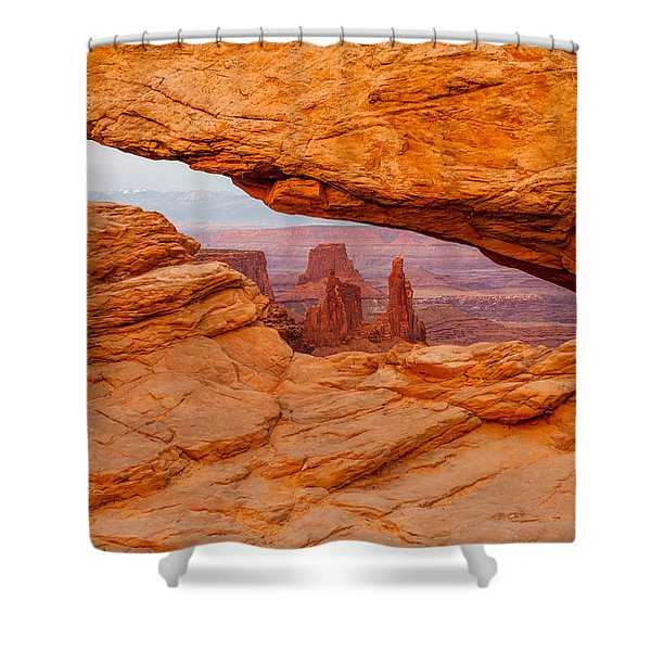 View To The  Washerwoman Shower Curtain