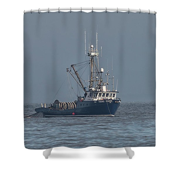 Shower Curtain featuring the photograph Viking Fisher 1 by Randy Hall