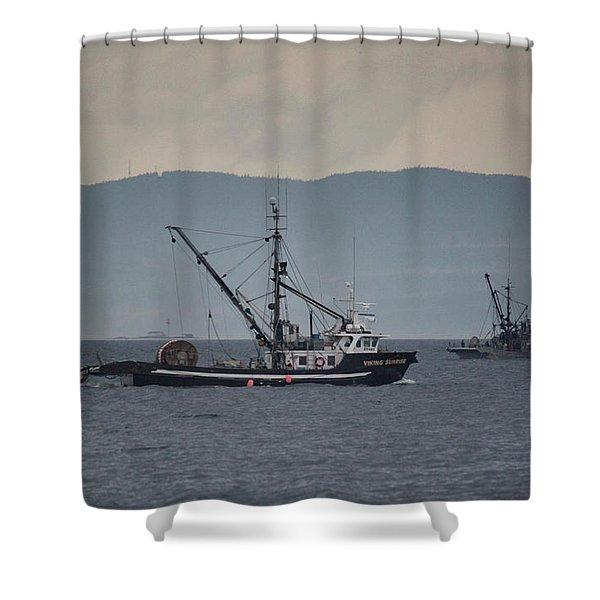 Viking Sunrise Shower Curtain