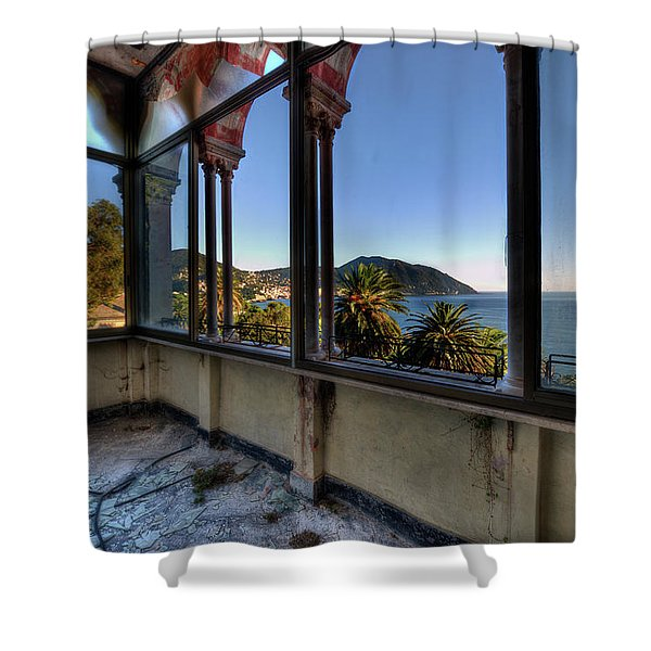 Villa Of Windows On The Sea - Villa Delle Finestre Sul Mare II Shower Curtain
