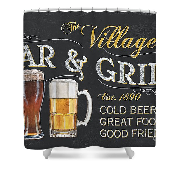 Village Bar And Grill Shower Curtain