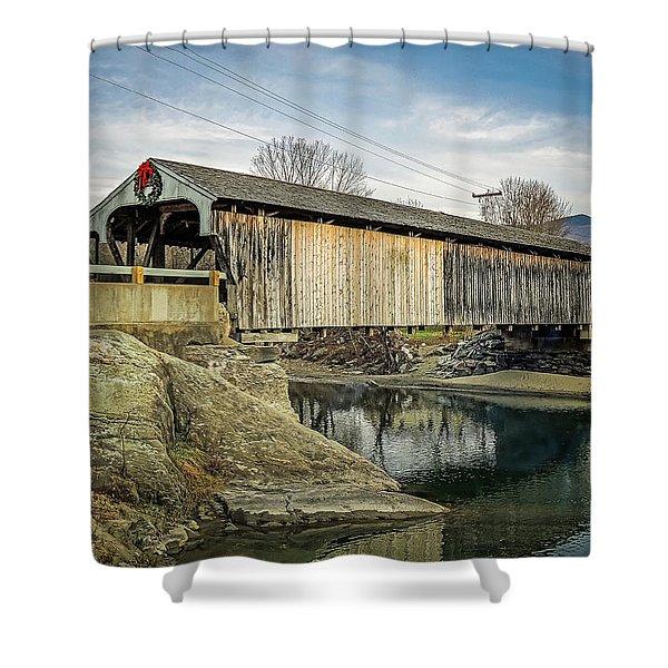 Village Bridge Shower Curtain