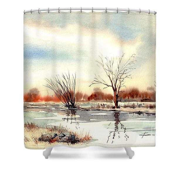 Village Scene II Shower Curtain