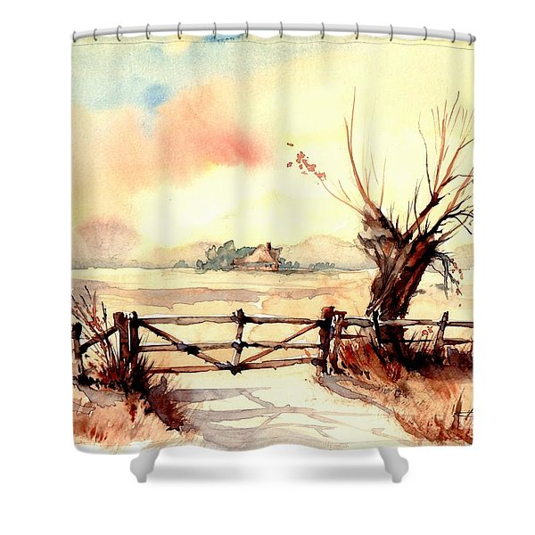 Village Scene IIi Shower Curtain