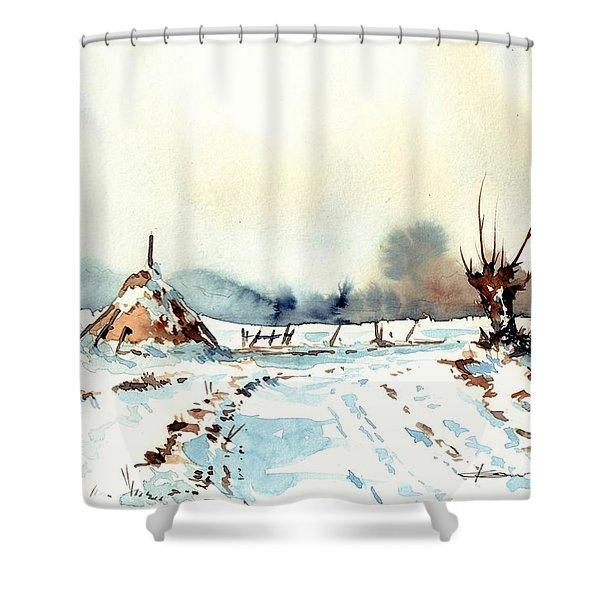 Village Scene Vii Shower Curtain