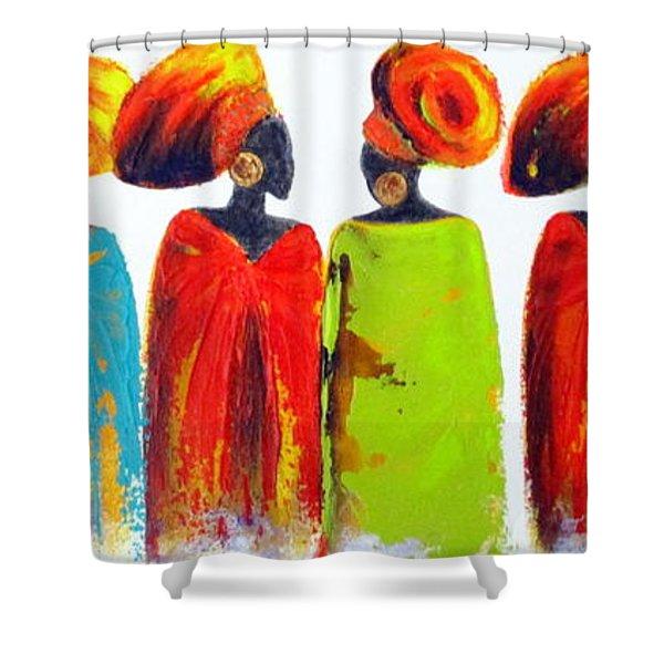 Village Talk Shower Curtain