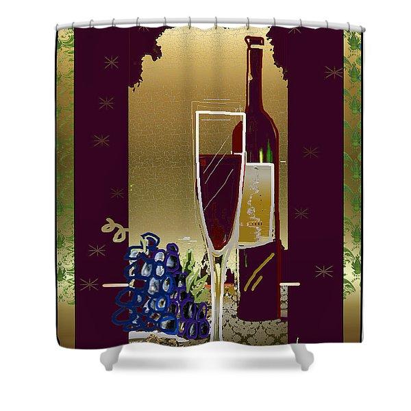 Vin Pour Une Shower Curtain
