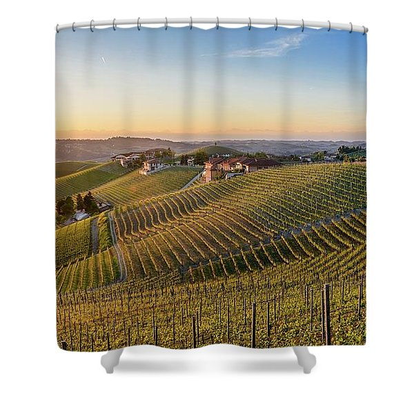 Vineyard At Barbaresco, Italy Shower Curtain