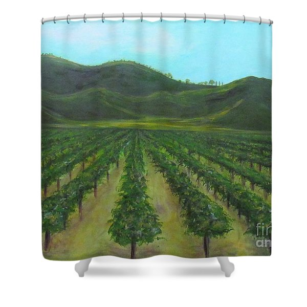 Vineyard Drive By Shower Curtain