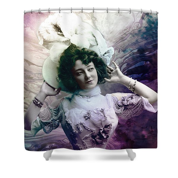 Shower Curtain featuring the digital art Vintage 1900 Fashion by Robert G Kernodle