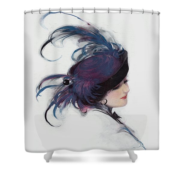 Shower Curtain featuring the photograph Vintage 1914 Fashion by Robert G Kernodle