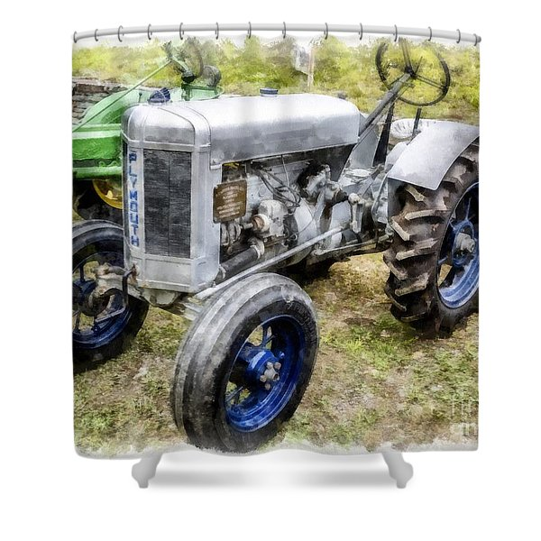 Vintage 1930 Plymouth Tractor Shower Curtain