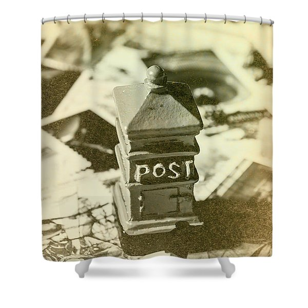 Vintage Australian Postage Art Shower Curtain