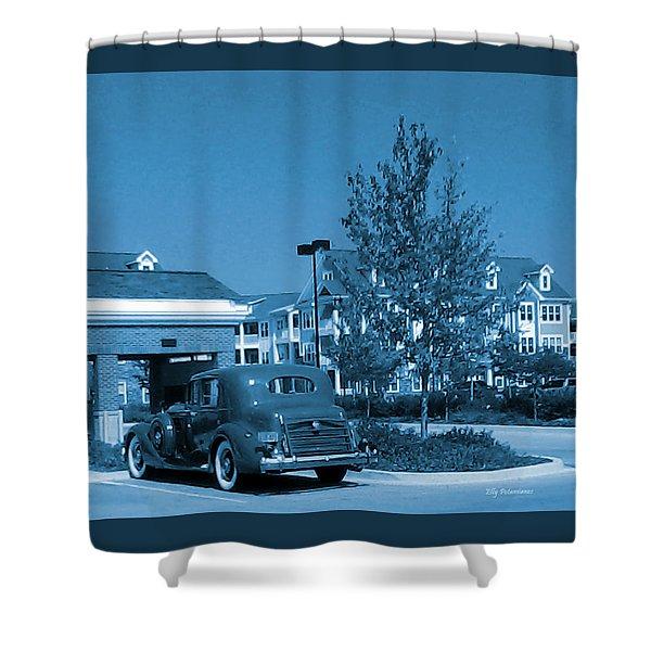 Vintage Automobile Shower Curtain