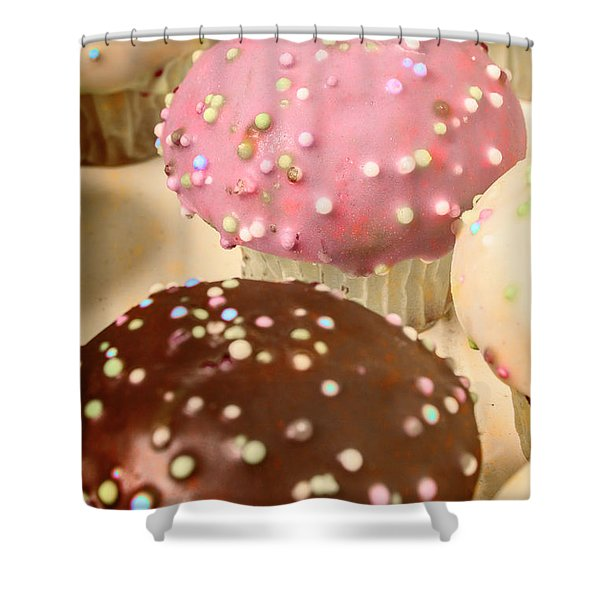 Vintage Bakery Scene Shower Curtain