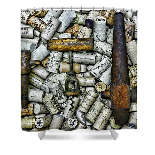 Vintage Barrel Taps And Cork Screw Shower Curtain