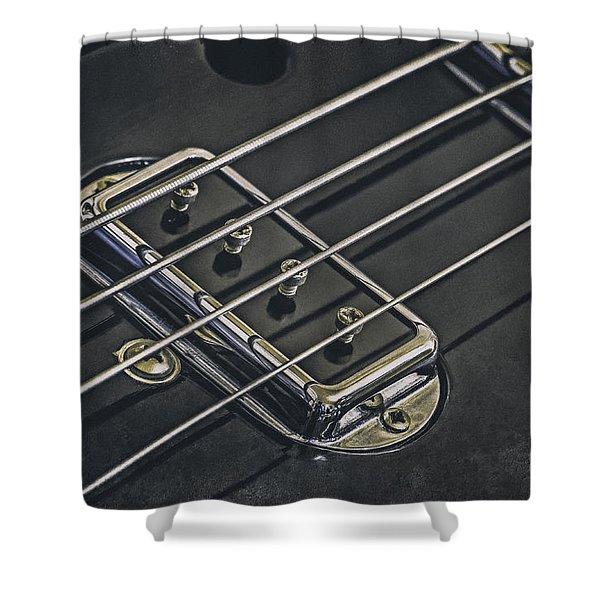 Vintage Bass Shower Curtain