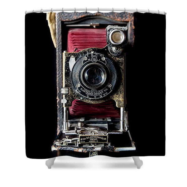 Vintage Bellows Camera Shower Curtain
