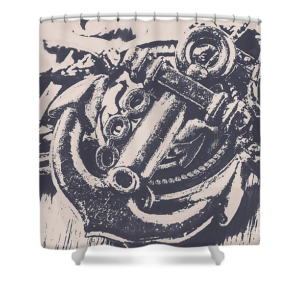Vintage Boating Anchor Shower Curtain