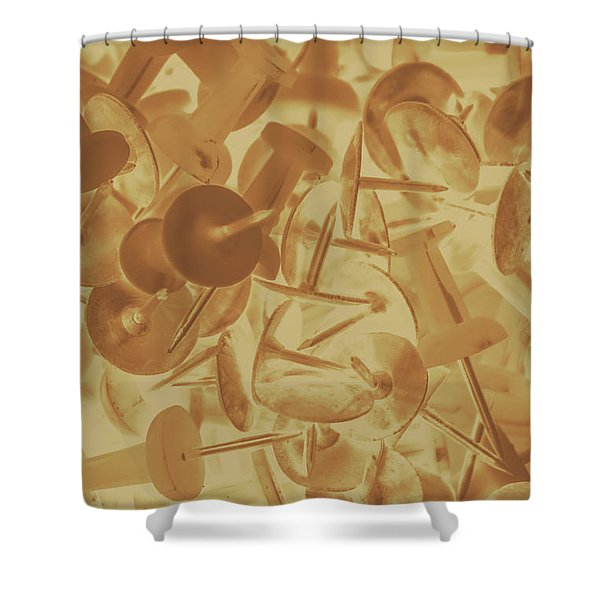 Vintage Business Pins Art Shower Curtain