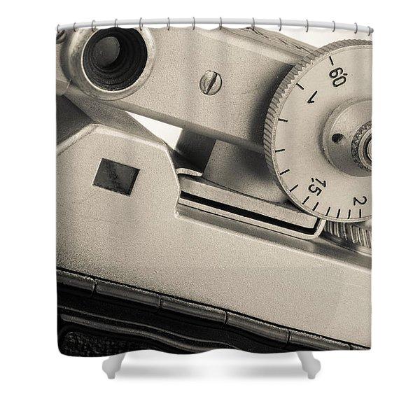 Vintage Camera -3 Shower Curtain