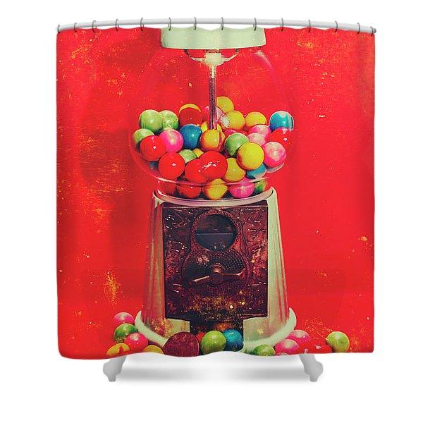 Vintage Candy Store Gum Ball Machine Shower Curtain