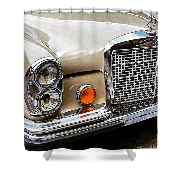 #vintage #car Corner Peek-a-boo Shower Curtain