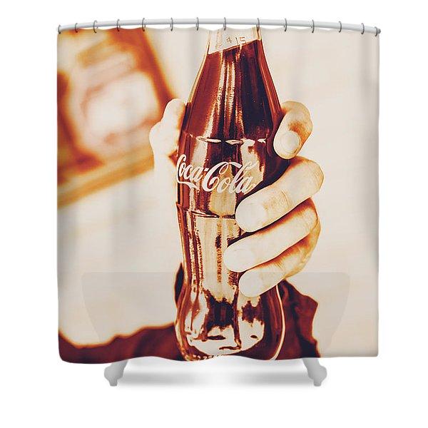 Vintage Cheers Shower Curtain
