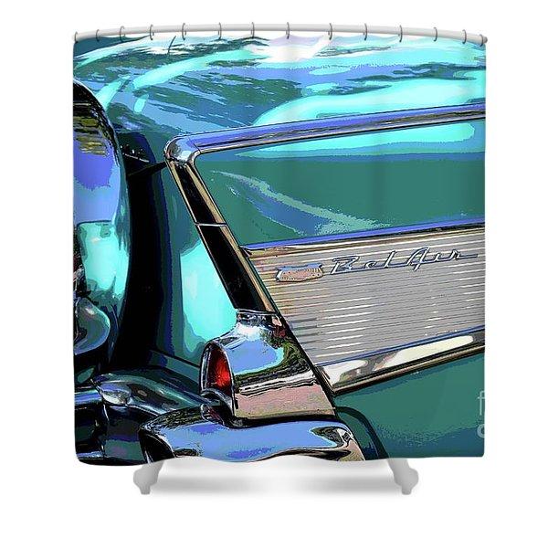 Vintage Chevrolet Belair Shower Curtain