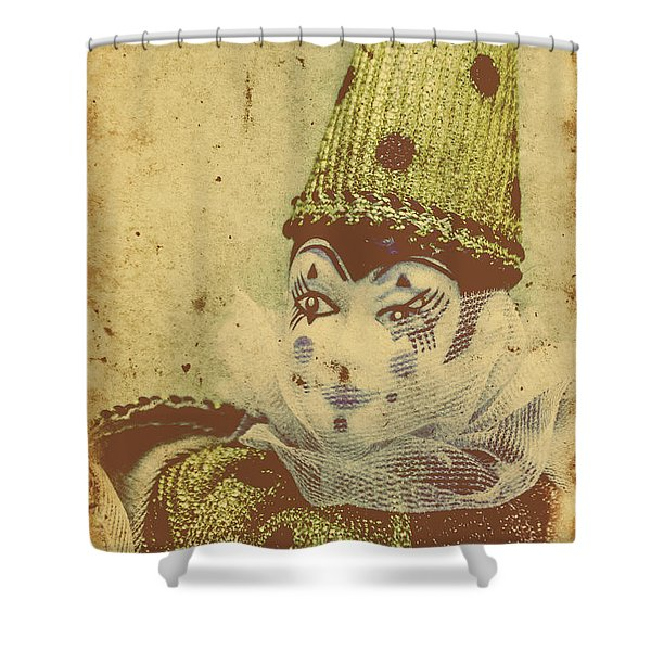 Vintage Circus Postcard Shower Curtain