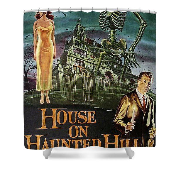 ORIGINAL HOUSE ON HAUNTED HILL 1958 VINCENT PRICE MOVIE VINTAGE STYLE ART PRINT