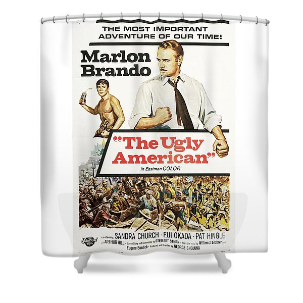 Vintage Classic Movie Posters, The Ugly American Shower Curtain