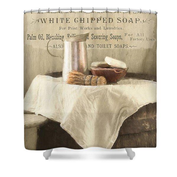 Vintage Clean Shower Curtain