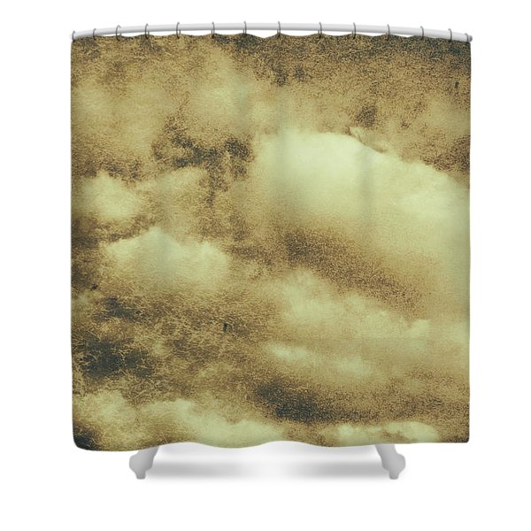Vintage Cloudy Sky. Old Day Background Shower Curtain