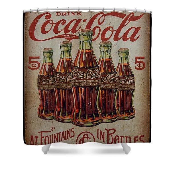 vintage Coca Cola sign Shower Curtain