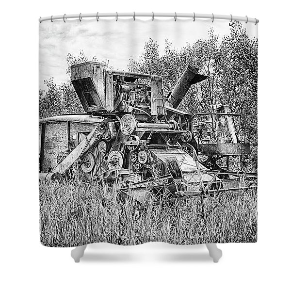 Vintage Combine Harvester Shower Curtain