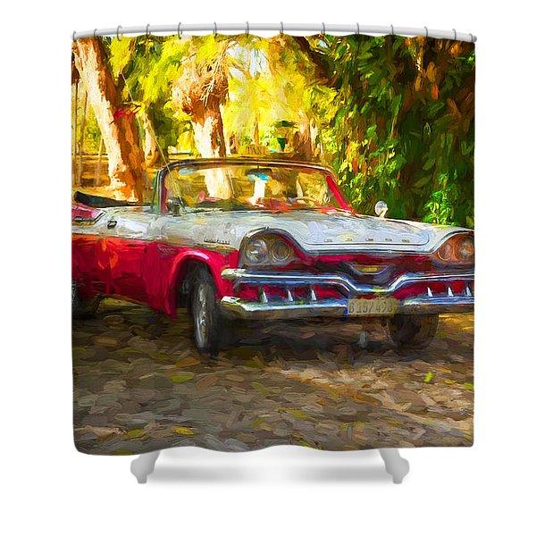 Vintage Dodge Custom Royal 1957 Shower Curtain