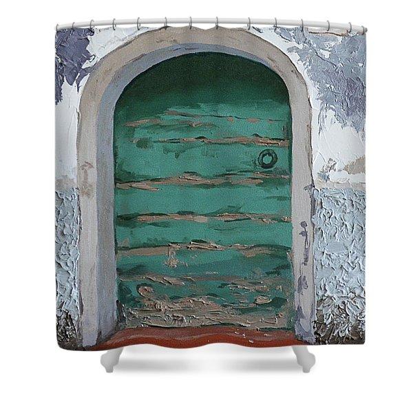 Vintage Series #2 Door Shower Curtain