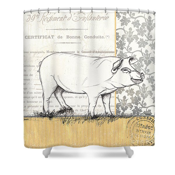 Vintage Farm 2 Shower Curtain
