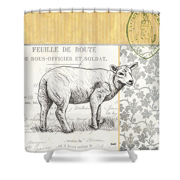 Vintage Farm 3 Shower Curtain