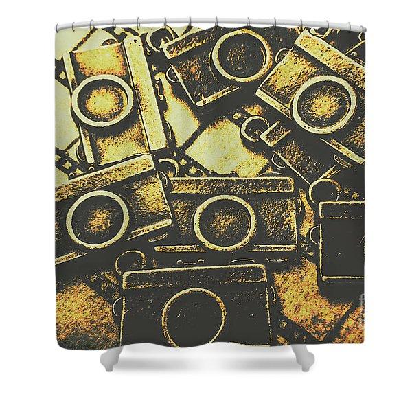 Vintage Film Camera Scene Shower Curtain