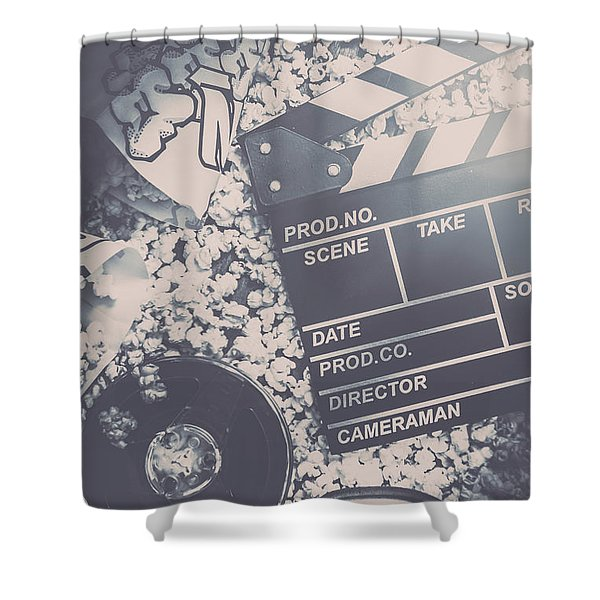 Vintage Film Production Shower Curtain