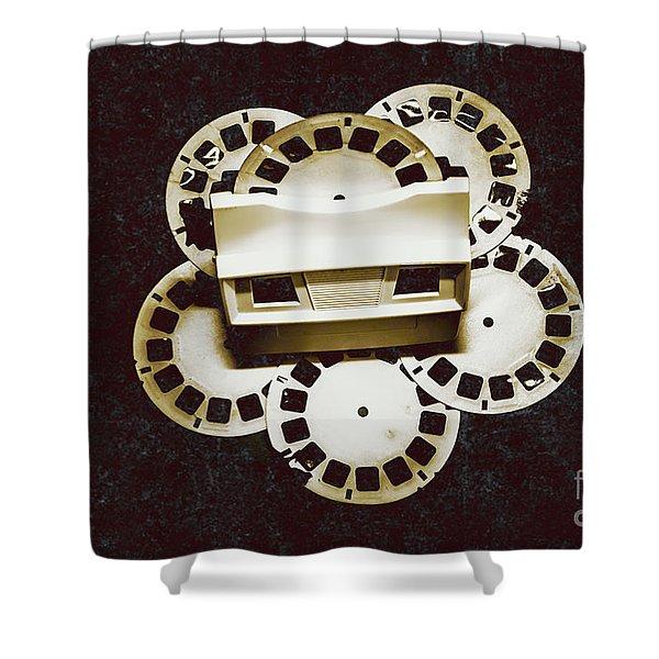 Vintage Film Toy Shower Curtain