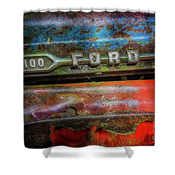 Vintage Ford F100 Shower Curtain