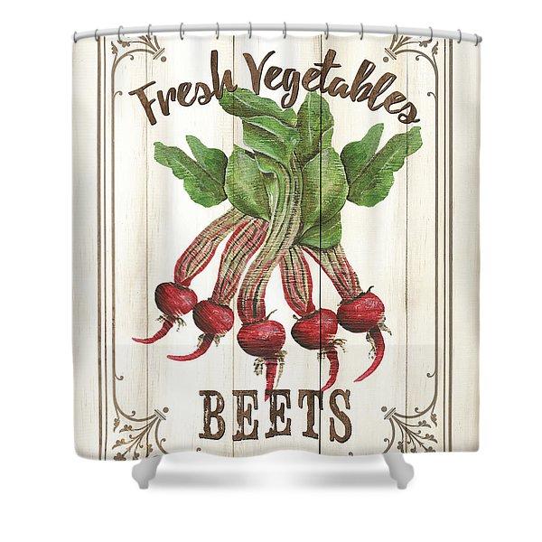Vintage Fresh Vegetables 1 Shower Curtain